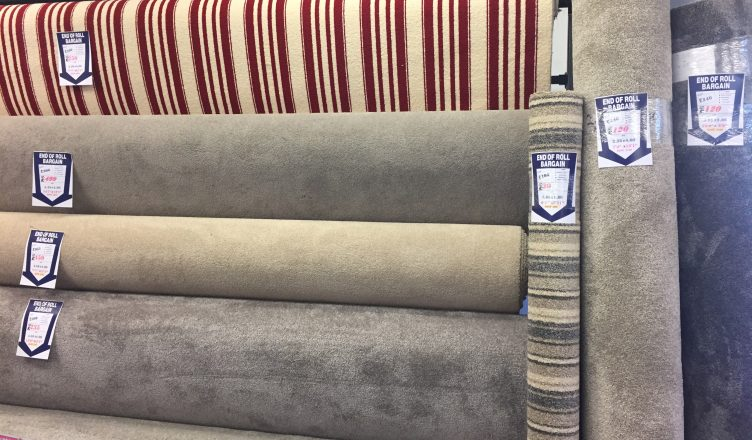 Carpet Remnants, Roll Ends and Offcuts on display | Essex Carpets & Flooring