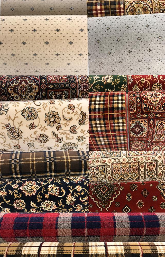 selection of designer carpets